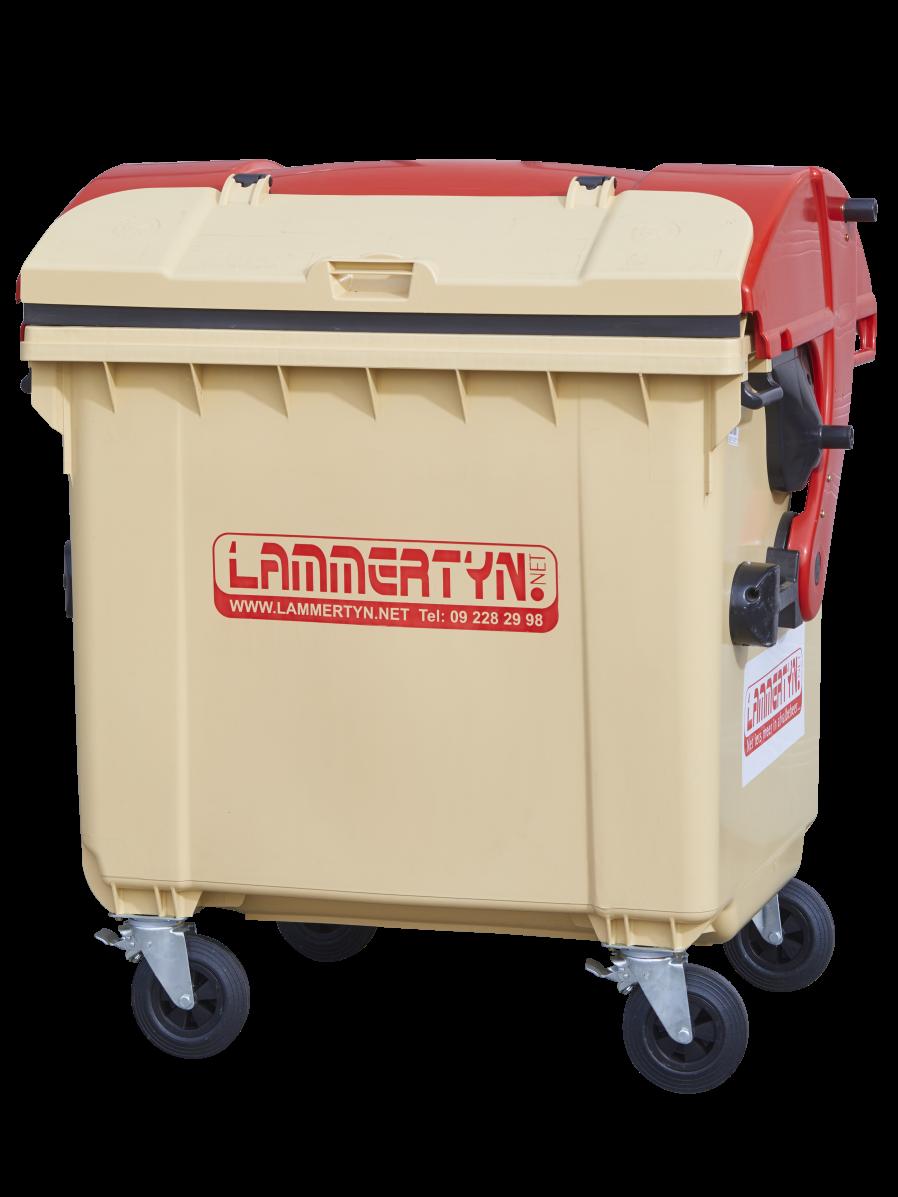 Lammertyn.net rolcontainer 1100 liter